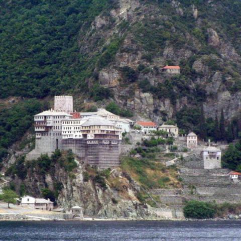 464928-Mount Athos - Agiou Dionisiou Monastery 002