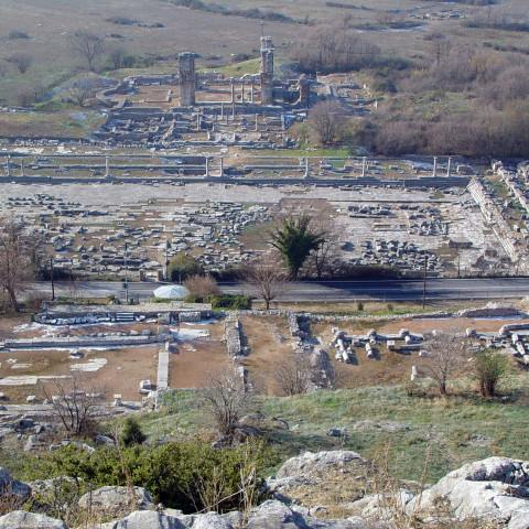 TLT Kavala ruins Philippi city center